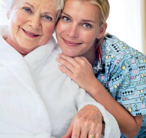 Pflegewäsche Pflegebekleidung erleichtern die häusliche Pflege.