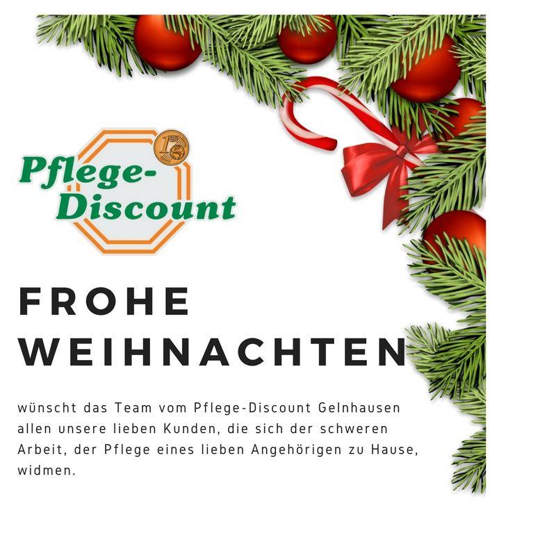 Weihnachtskarte Pflege-Discount